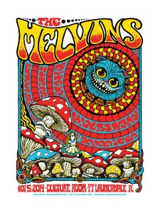 Melvins Poster by Nathaniel Deas